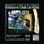 MIGHTY AS A FLOWER poster black Claudia Borgna (1)